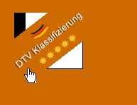 Urkunde für die 5 Sterne DTV Klassifizierung